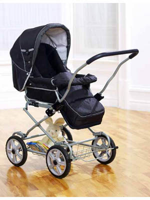 Now special buggies are made for new babies and